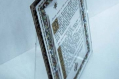 Placas conmemorativas de metacrilato en Sevilla